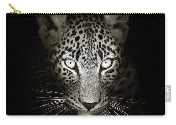 Leopard Portrait In The Dark Carry-all Pouch