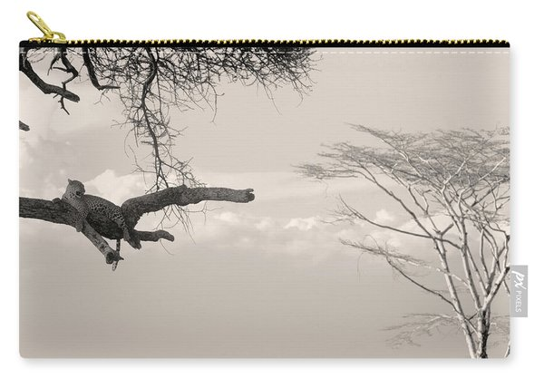 Leopard Resting On A Tree Carry-all Pouch