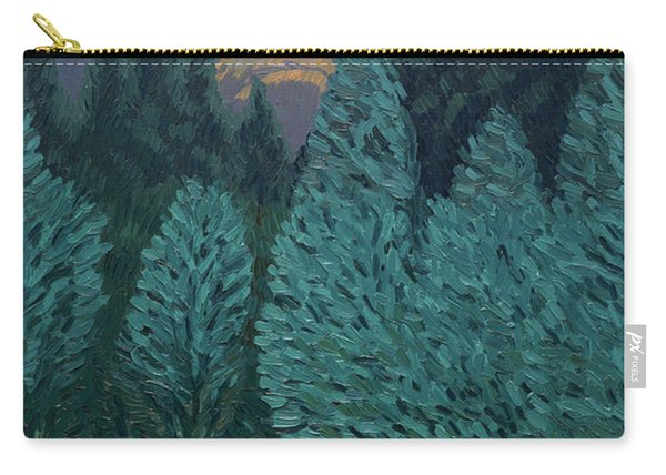 Les Alycamps And The Starry Night Carry-all Pouch
