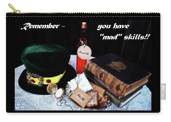 Lessons From The Mad Hatter Carry-all Pouch