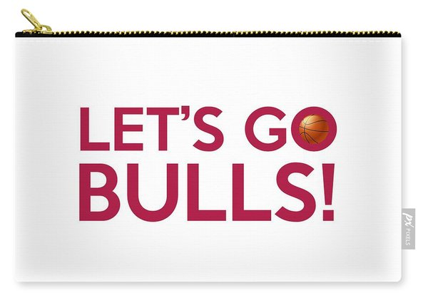 Let's Go Bulls Carry-all Pouch
