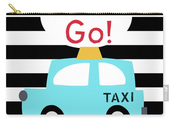 Let's Go Taxi- Art By Linda Woods Carry-all Pouch