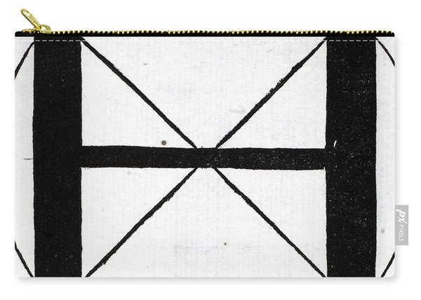 Letter H Carry-all Pouch
