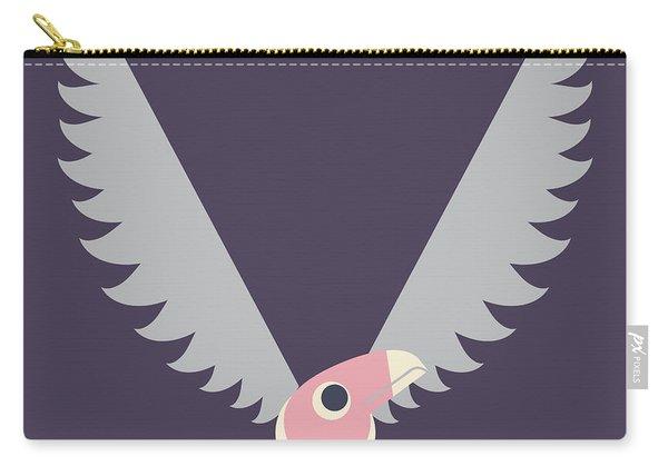 Letter V - Animal Alphabet - Vulture Monogram Carry-all Pouch