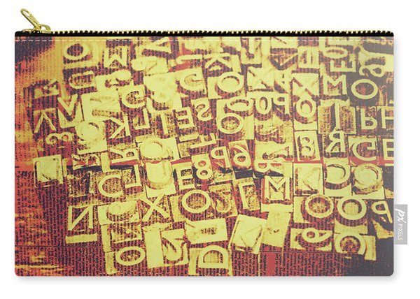 Letterpress Industrial Pop Art Carry-all Pouch