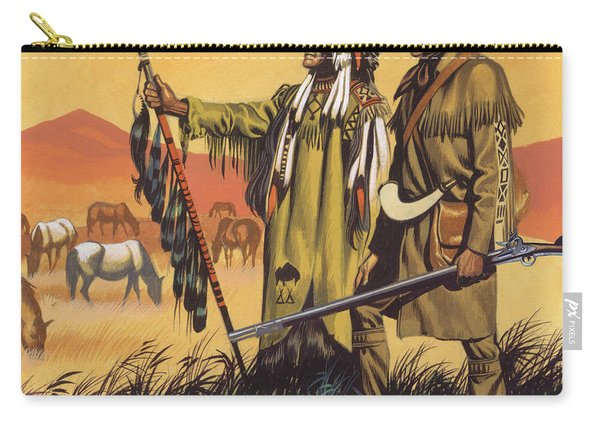 Lewis And Clark Expedition Scene Carry-all Pouch