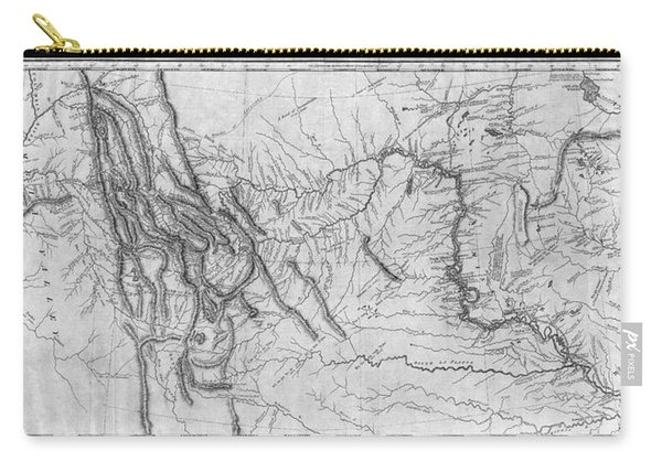 Lewis And Clark Hand-drawn Map Of The Unknown 1804 Carry-all Pouch