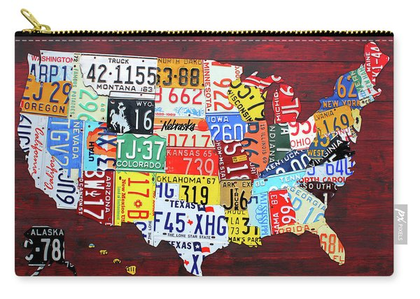 License Plate Map Of The United States Custom Edition 2017 Carry-all Pouch