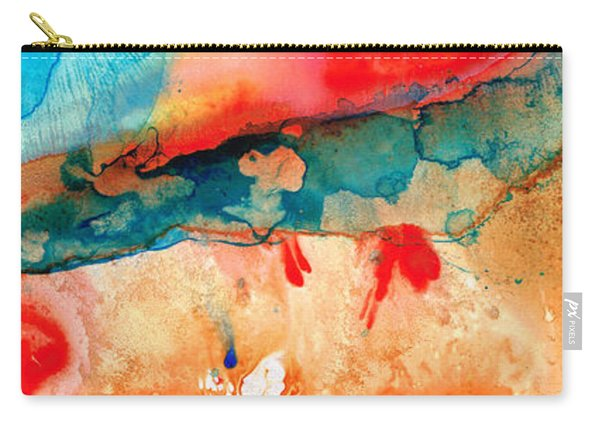 Life Eternal Red And Green Abstract Carry-all Pouch