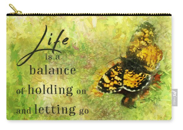 Life Is A Balance Carry-all Pouch