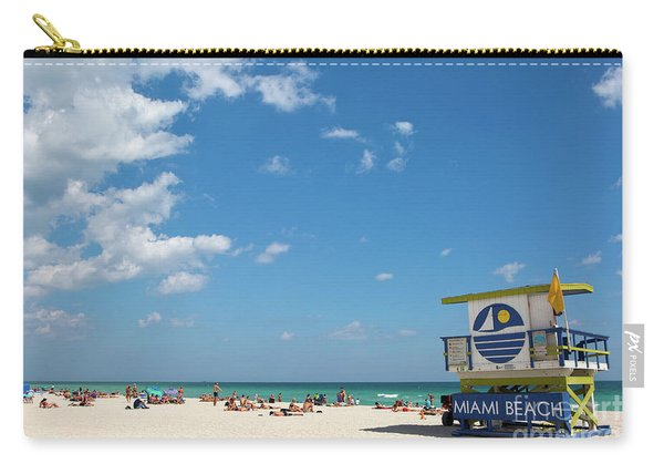 Lifeguard Station Miami Beach Florida Carry-all Pouch