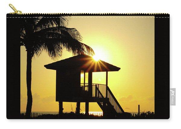 Lifeguard Station Sunburst Delray Beach Florida Carry-all Pouch