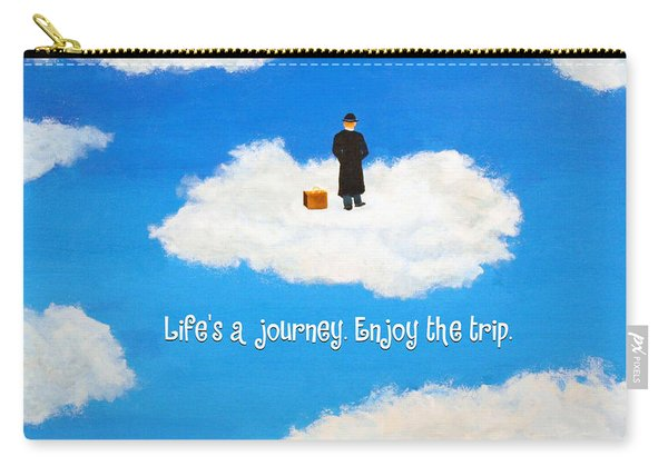 Life's A Journey Greeting Card Carry-all Pouch