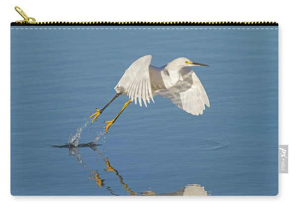 Lift Off- Snowy Egret Carry-all Pouch