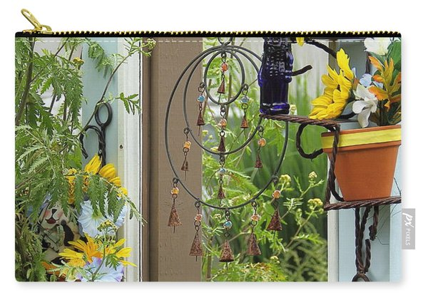 Light Blue Door Planter Carry-all Pouch