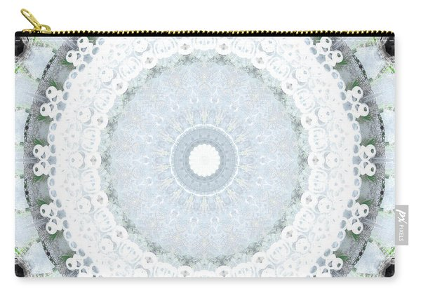 Light Blue Mandala- Art By Linda Woods Carry-all Pouch