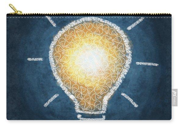 Light Bulb Design Carry-all Pouch