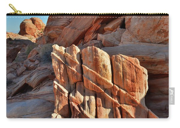 Light Creeps In At Valley Of Fire State Park Carry-all Pouch