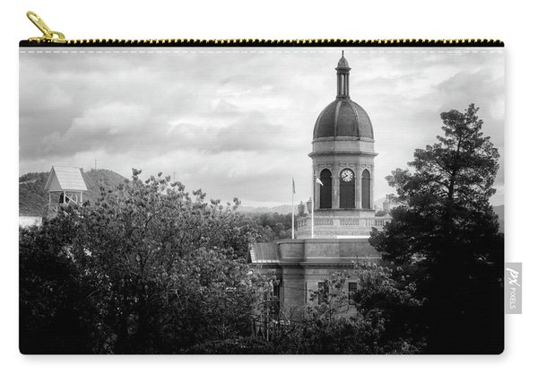 Light On The Courthouse In Black And White Carry-all Pouch