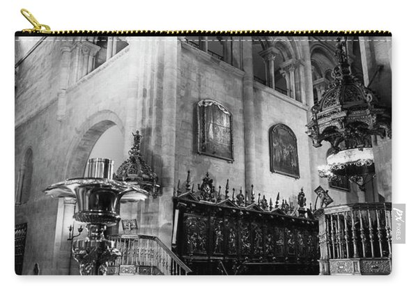 Light Ray In Lugo Cathedral Bw Carry-all Pouch