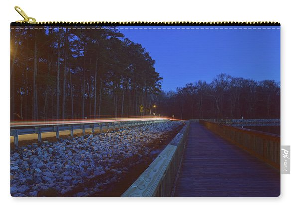 Light Trails On Elbow Road Carry-all Pouch