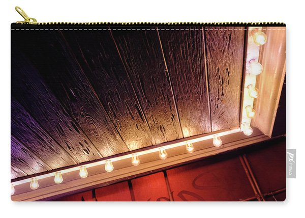 Lighted Corner In Red Black Annd Yellow In Winter Park Florida Carry-all Pouch