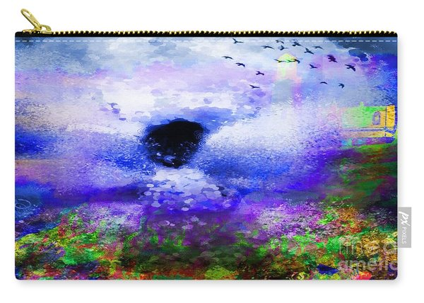 Lighthouse Angel Purple In Hotty Totty Style Carry-all Pouch