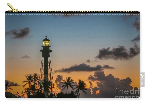 Carry-all Pouch featuring the photograph Lighthouse At Dawn #1 by Tom Claud
