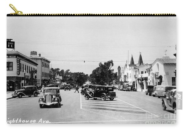 Lighthouse Avenue Downtown Pacific Grove, Calif. 1935  Carry-all Pouch