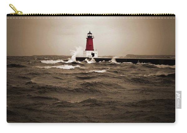 Lighthouse Glow Sepia Spot Color Carry-all Pouch