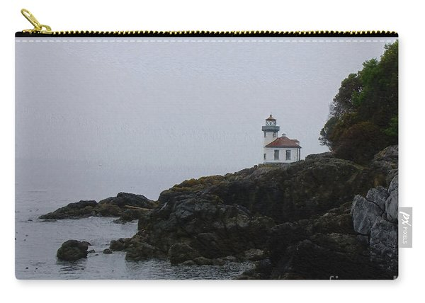 Lighthouse On Rainy Day Carry-all Pouch