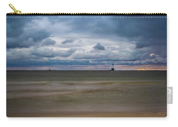 Lighthouse Under Brewing Clouds Carry-all Pouch