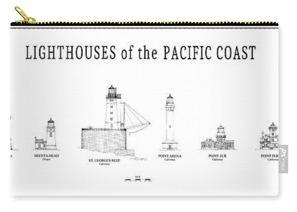 Lighthouses Of The Pacific Coast Carry-all Pouch
