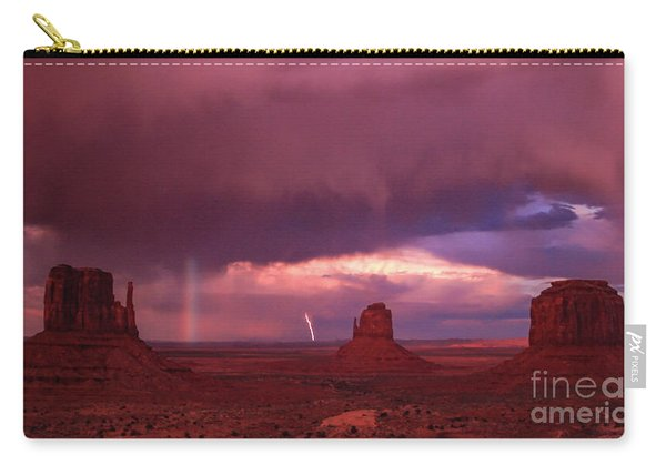 Lightning And Rainbow Carry-all Pouch
