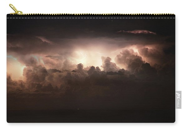 Lightning Over The Straits Of Messina Carry-all Pouch