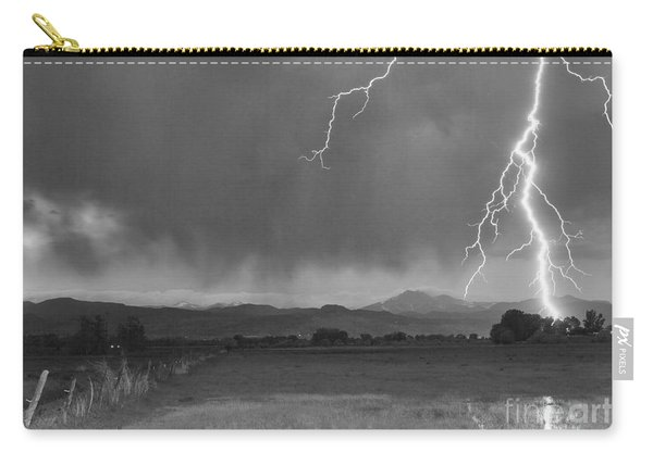 Lightning Striking Longs Peak Foothills 5bw Carry-all Pouch