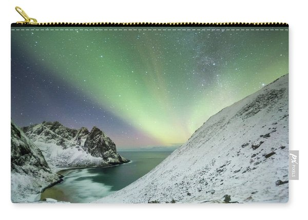 Lights Above Kvalvika Carry-all Pouch