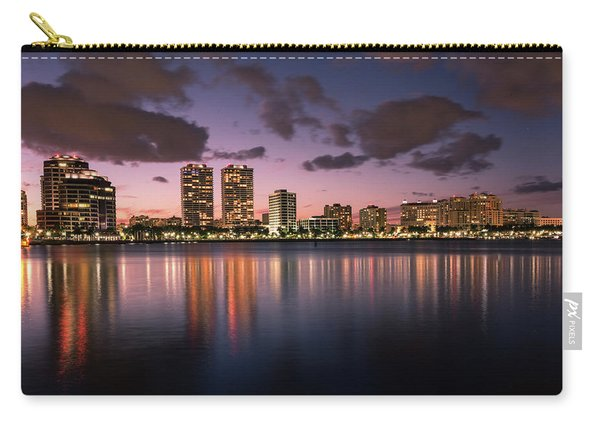 Lights At Night In West Palm Beach Carry-all Pouch
