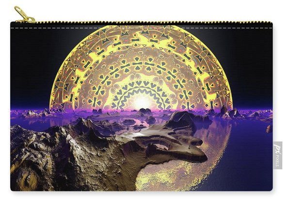 Carry-all Pouch featuring the digital art Lightscape 24 by Robert Thalmeier