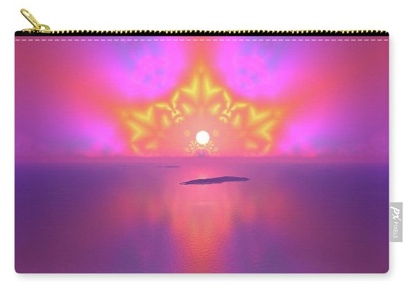 Carry-all Pouch featuring the digital art Lightscape 25 by Robert Thalmeier