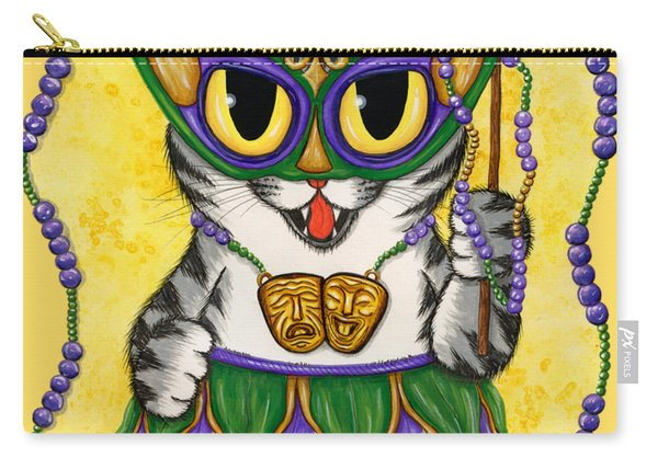 Lil Mardi Gras Cat Carry-all Pouch