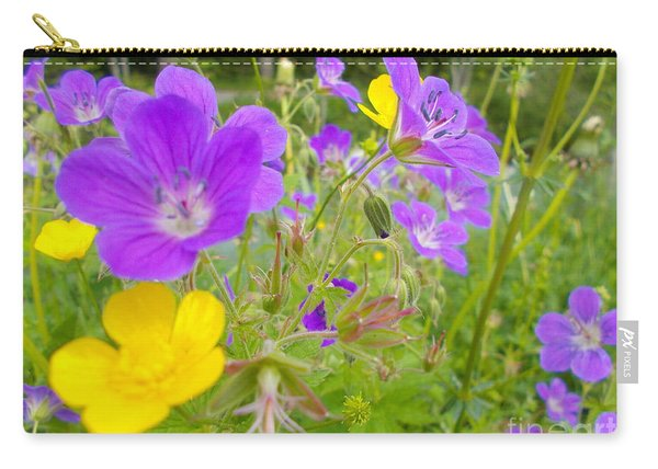 Lila Wild Flowers Carry-all Pouch