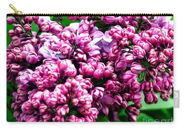 Lilac Blossoms Abstract Soft Effect 1 Carry-all Pouch