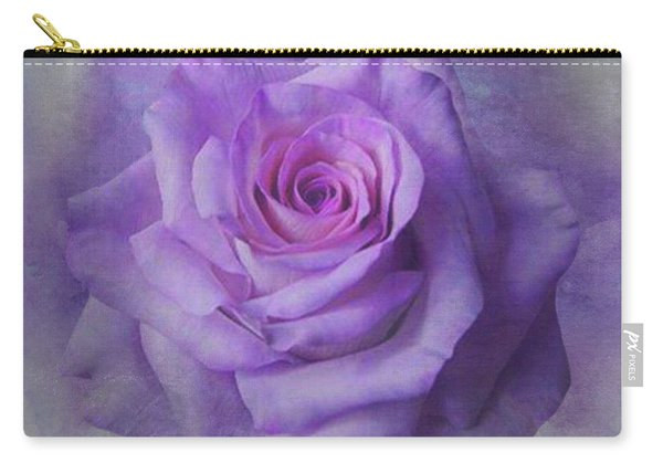 Lilac Purple Rose Carry-all Pouch