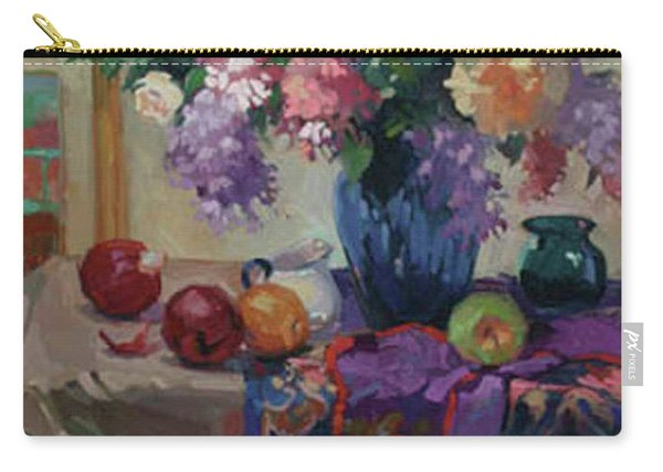 Lilacs And Peonies Carry-all Pouch