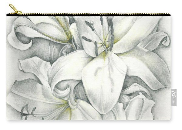 Lilies Pencil Carry-all Pouch