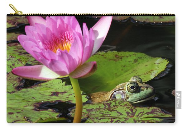 Lily And The Bullfrog Carry-all Pouch