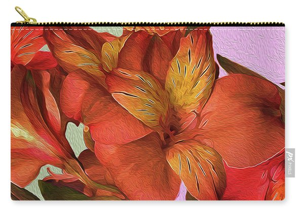 Lily Bouquet In North Light Carry-all Pouch