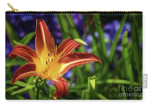 Lily On Violet Carry-all Pouch