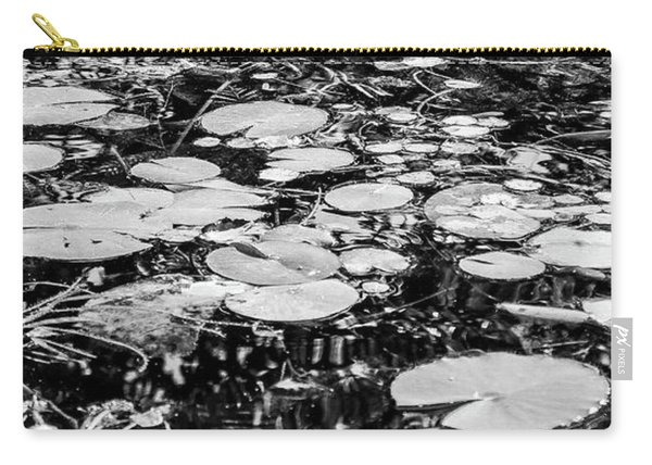 Lily Pads, Black And White Carry-all Pouch